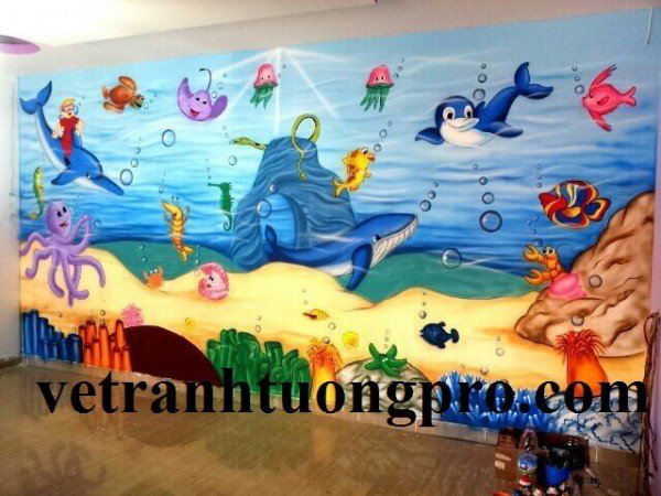 school wall painting ideas modern spaces with wall art for kids room2 600x450 Vẽ tr.tg.m.n giá rẻ nhất Hà Nội năm 2018